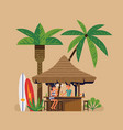 beach bar with bartender vector image vector image
