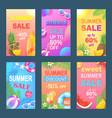 best summer offer discount vector image vector image
