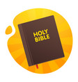 bible with the red tab on the yellow orange vector image vector image