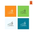 Business Graph with Arrow Pointing Up vector image vector image