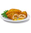 chicken kiev cutlets vector image vector image