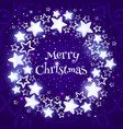 christmas wreath on purple background circle vector image vector image