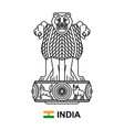 coat arms india vector image