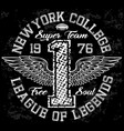 College new york typography t-shirt graphics