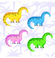 colored dinosaurs set vector image vector image