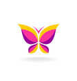 Colorfuk butterfly logo vector image vector image