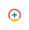cross medic pharmacy logo vector image vector image