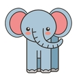 cute elephant animal tender isolated icon vector image vector image