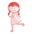 cute little girl character vector image vector image