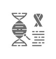 dna molecule with cancer cells malignant tumor vector image