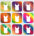 dress icon sign Nine buttons with bright gradients vector image
