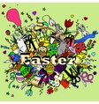 Easter design line art vector image