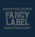 fancy label font isolated english alphabet vector image