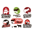 farm logo meat food or livestock breeding vector image
