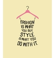 Fashion women dress from quote vector image vector image