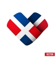 Flag icon in the form of heart I love Dominican vector image