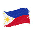 flag of philippines grunge abstract brush stroke vector image