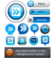 Forward high-detailed web button collection vector | Price: 1 Credit (USD $1)