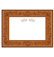 frame with foliate doodles vector image