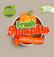 fresh pumpkin logo vector image vector image