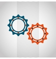 gears settings design vector image vector image