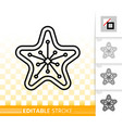 gingerbread cookie star black line icon vector image vector image