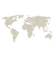 global map collage of soldier icons vector image vector image