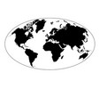 graphic map earth vector image vector image
