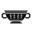 greek ancient bowl icon simple style vector image