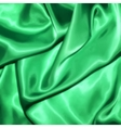 Green fabric texture for background vector image