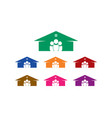 group people house logo vector image