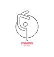 Gymnast Logo vector image vector image