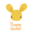 happy easter cute kawaii bunny rabbit face vector image vector image