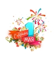 Happy Holidays First May vector image vector image