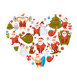 happy new year cartoon santa celebrating holidays vector image vector image