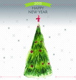 Happy New Year Greeting Card with big Christmas vector image vector image