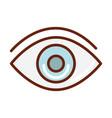 human body eye optical anatomy organ health line vector image vector image