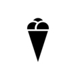 Ice cream Icon Flat vector image