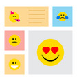 icon flat gesture set of laugh mood fun and vector image vector image