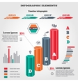 Infographics elements set Prismatic columns vector image vector image