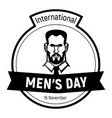 international mens day face icon simple style vector image vector image