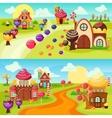 Landscape Sweets Banners Set vector image vector image