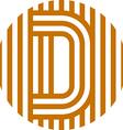 letter line d alphabet design vector image vector image