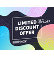 limited discount offer typography banner vector image vector image