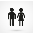 man and woman icon black vector image