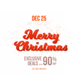 Merry Christmas Sale Poster Template Isolated vector image
