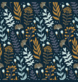modern seamless pattern with wild floral elements vector image