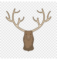 moose head icon cartoon style vector image vector image
