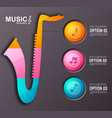 music instrument infographic template vector image vector image