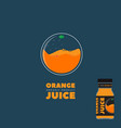 natural orange juice logo and label vector image
